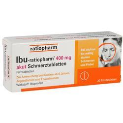 IBU RATIOPHARM 400 mg akut Schmerztbl.  Filmtabl.