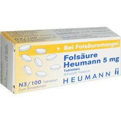 FOLSAEURE HEUMANN 5 mg Tabletten